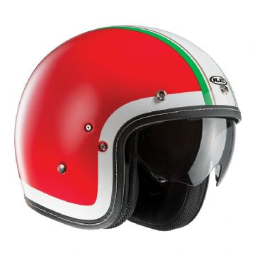 HJC FG-70S Heritage Red Retro Classic Open Faced Motorcycle Motorbike Helmet XS